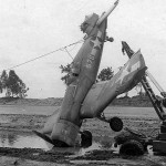 "F4U-1 Corsair (birdcage, Bu No 02576) white 576, ""Marines Dream"" of VMF 214 flown by 1Lt Ed Olander after it crashed at Torokina Bougainville during 1943"
