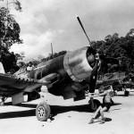 F4U-1 Corsair of VMF-222 Vella Lavella in the Solomon Islands. January 15, 1944