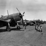 F4U-1 Corsairs of VMF-124 Guadalcanal April 14, 1943