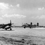 F4U-4 white 226 and B-25 on Iwo Jima