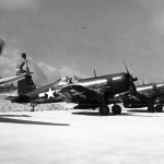 F4U-4 Corsairs of the VMF-224 on Okinawa