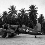 F4U-1A Corsair white 5 (Bu No 17656) of VF-17 Green Islands Maintenance. March 1944