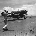 F4U Corsair of VBF-88 on board the carrier USS Yorktown CV-10 – July 18, 1945