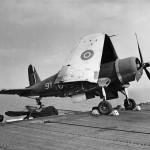 F4U Corsair 9Y on deck HMS Khedive