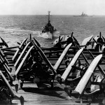F4U Corsairs on board the carrier USS Essex CV-9 February 27 1945