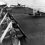 F4U-2 Corsairs from VMF(N)-532 on board the carrier USS Windham Bay CVE-93 – July 12, 1944