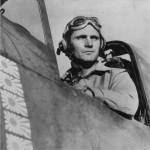 Kenneth Walsh in cockpit of F4U VMF-124 May 1943