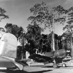 Lt Ira Kepford of VF-17 returns from a combat mission over Rabaul Bougainville on February 19, 1943