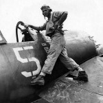 Lt (jg) Thomas Killefer VF-17 and F4U-1A Corsair white 5 (Bu No 17656)