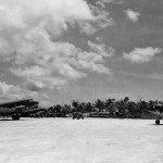 R4D Skytrain and F4U Corsair 241, Emirau Island in 1945