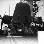 USS Block Island CVE-106 F4U Corsair of VMF 511 February 4,1945