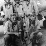 VMF-214 Blacksheep pilots by F4U-1 Corsair
