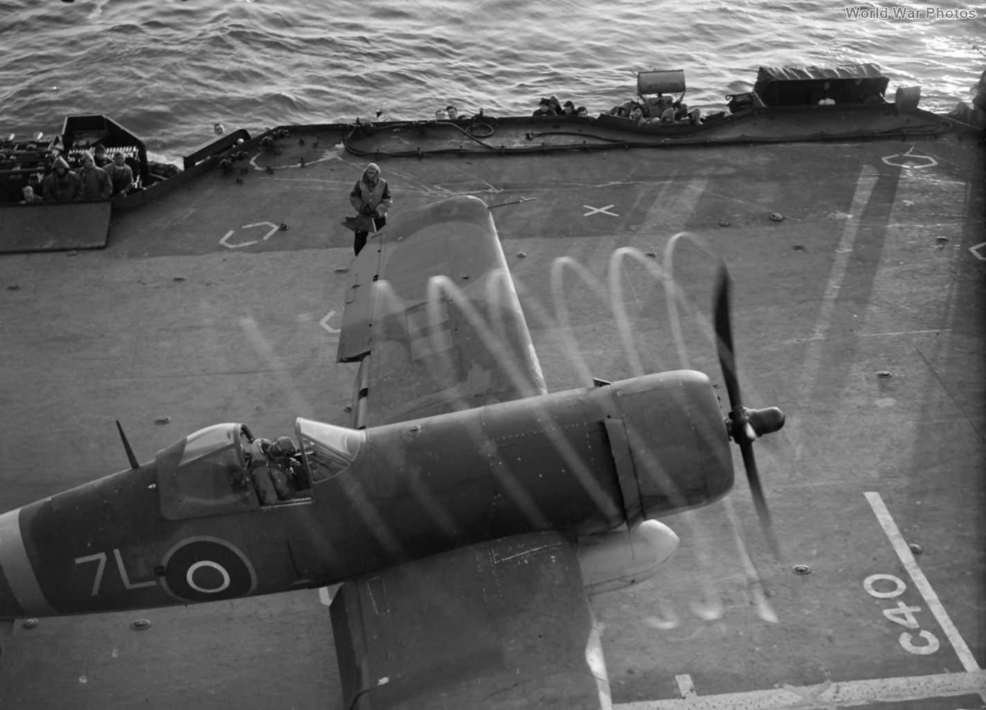 Corsair 7L HMS Formidable July 1944