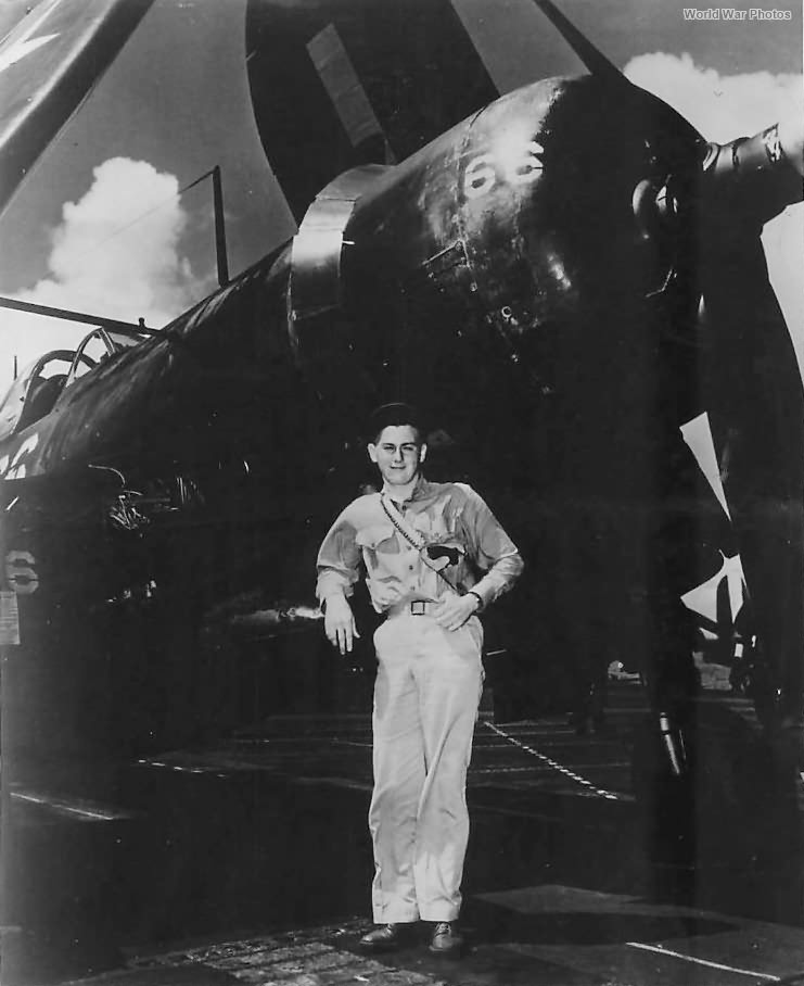 Ace Albert Lerch after downing 7 Japanese planes Okinawa 1945