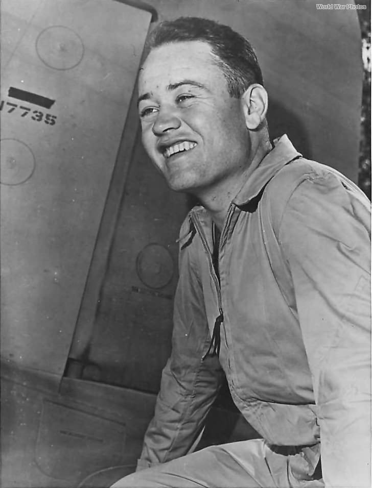 Ace Pappy Boyington of VMF-214 Black Sheep Squadron
