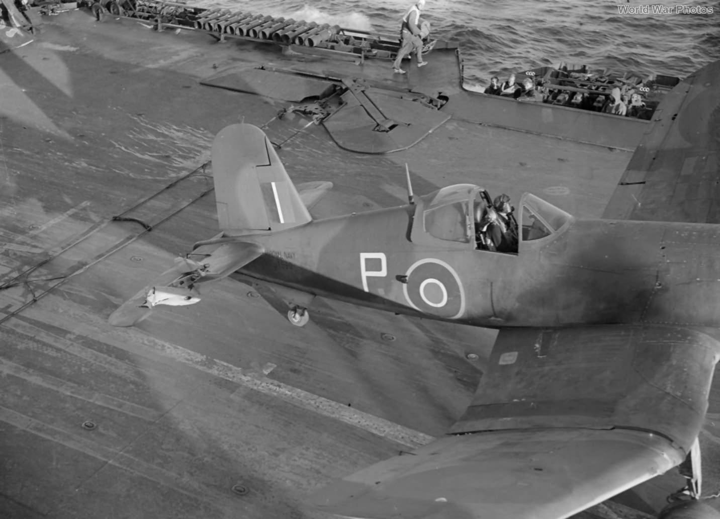 Corsair aboard HMS Formidable August 1944