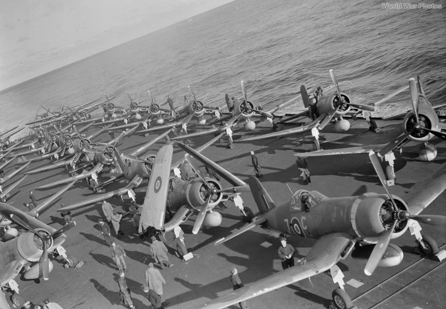 Corsairs aboard HMS Victorious June 1944