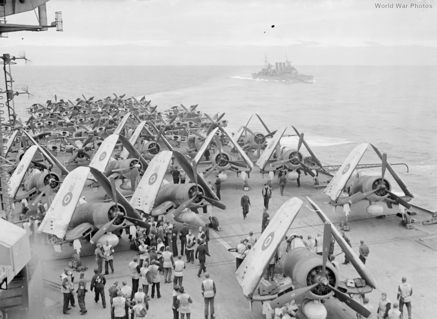 Corsairs aboard HMS Formidable July 1944