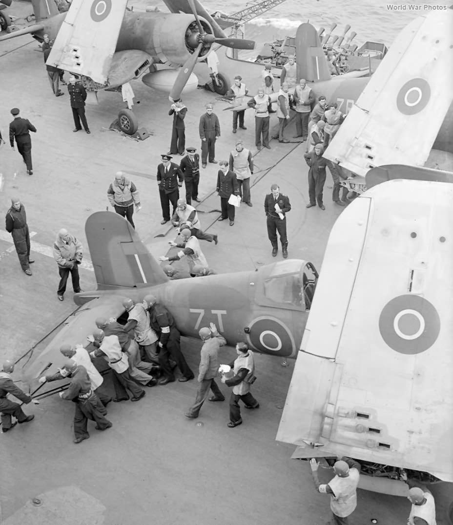 "Corsair Mk II ""7T"" aboard HMS Formidable July 1944"