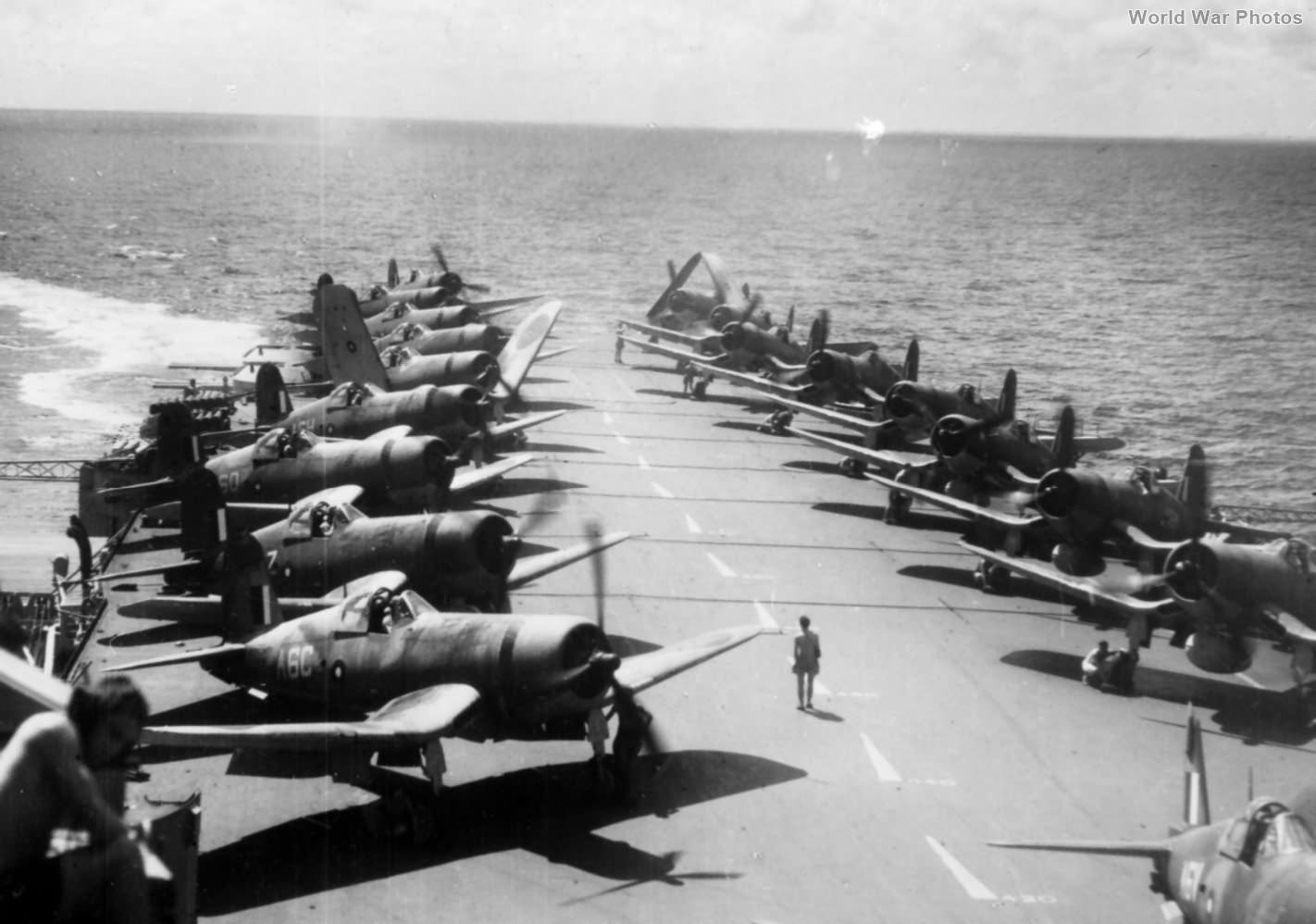 Corsairs aboard HMS Illustrious February 1945