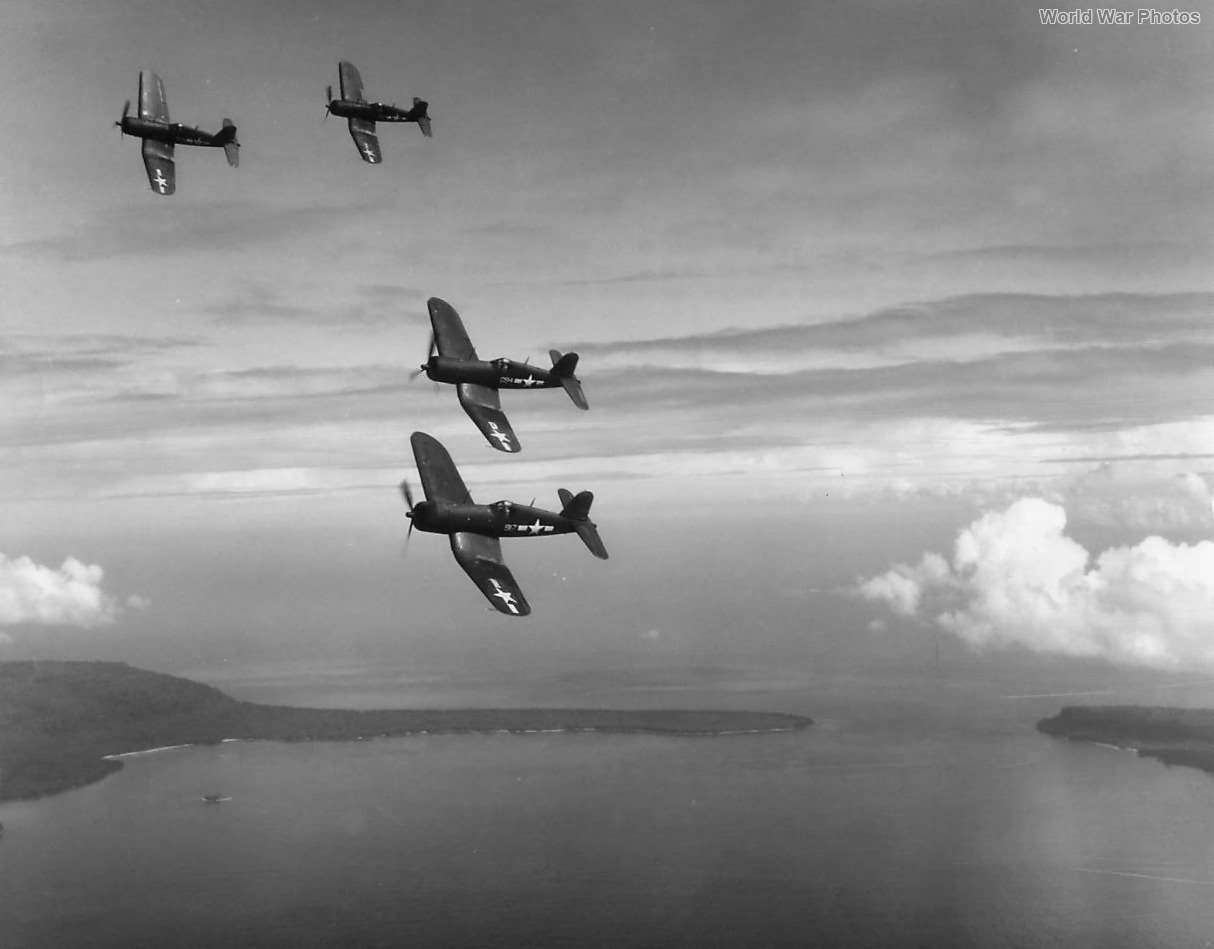 Corsairs of VMF-216 Bulldog Squadron 1944