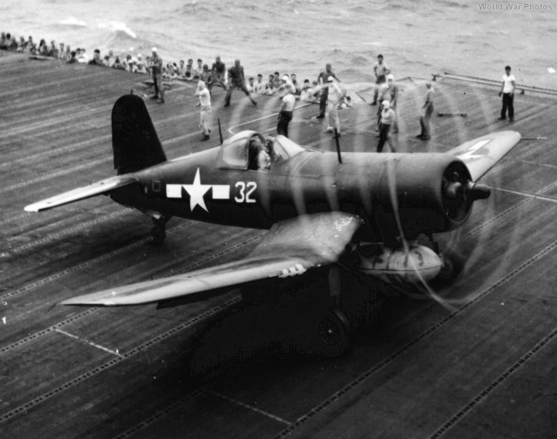 F4U-1A #32 of VMF-124 USS Essex December 28, 1944