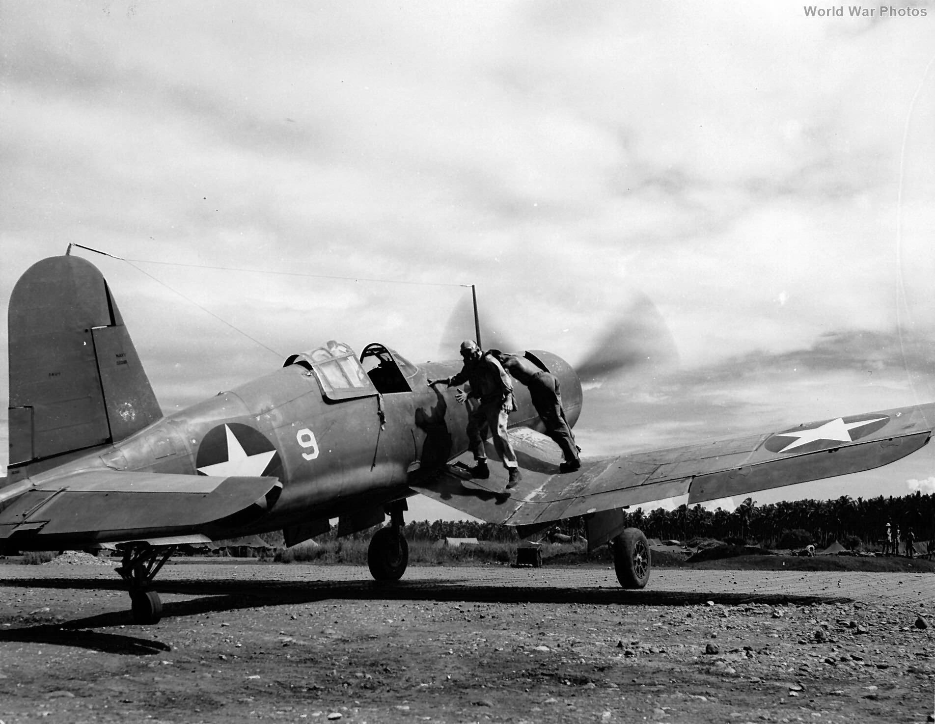 F4U-1 BuNo 02288 flown by Major Gregory Weissenberger of VMF-213