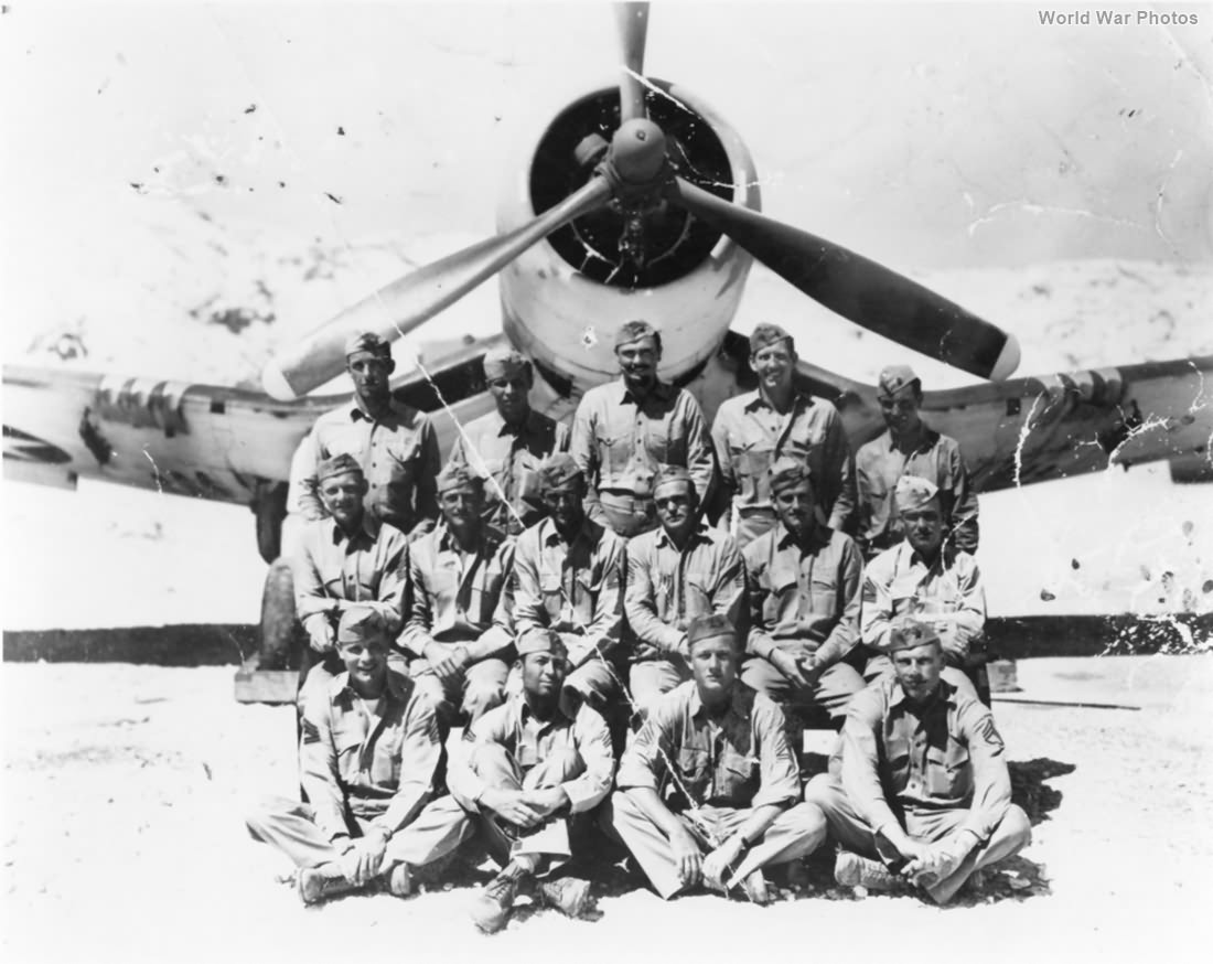 F4U-1 and pilots of VMF-215 28 May 1943