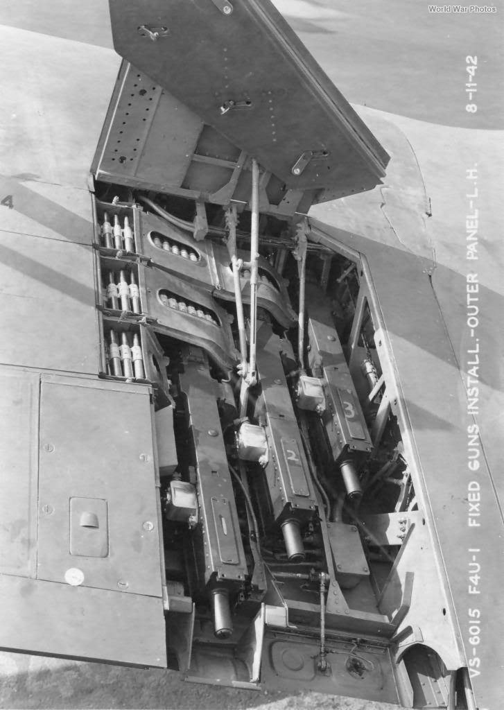 F4U-1 guns installation 1942