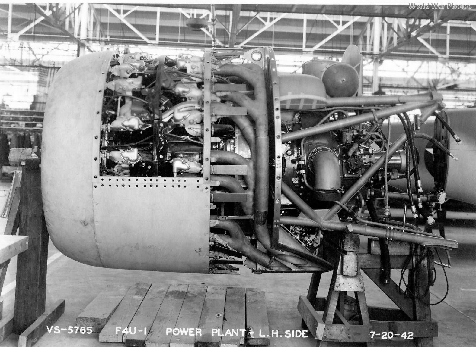 F4U-1 engine 1942
