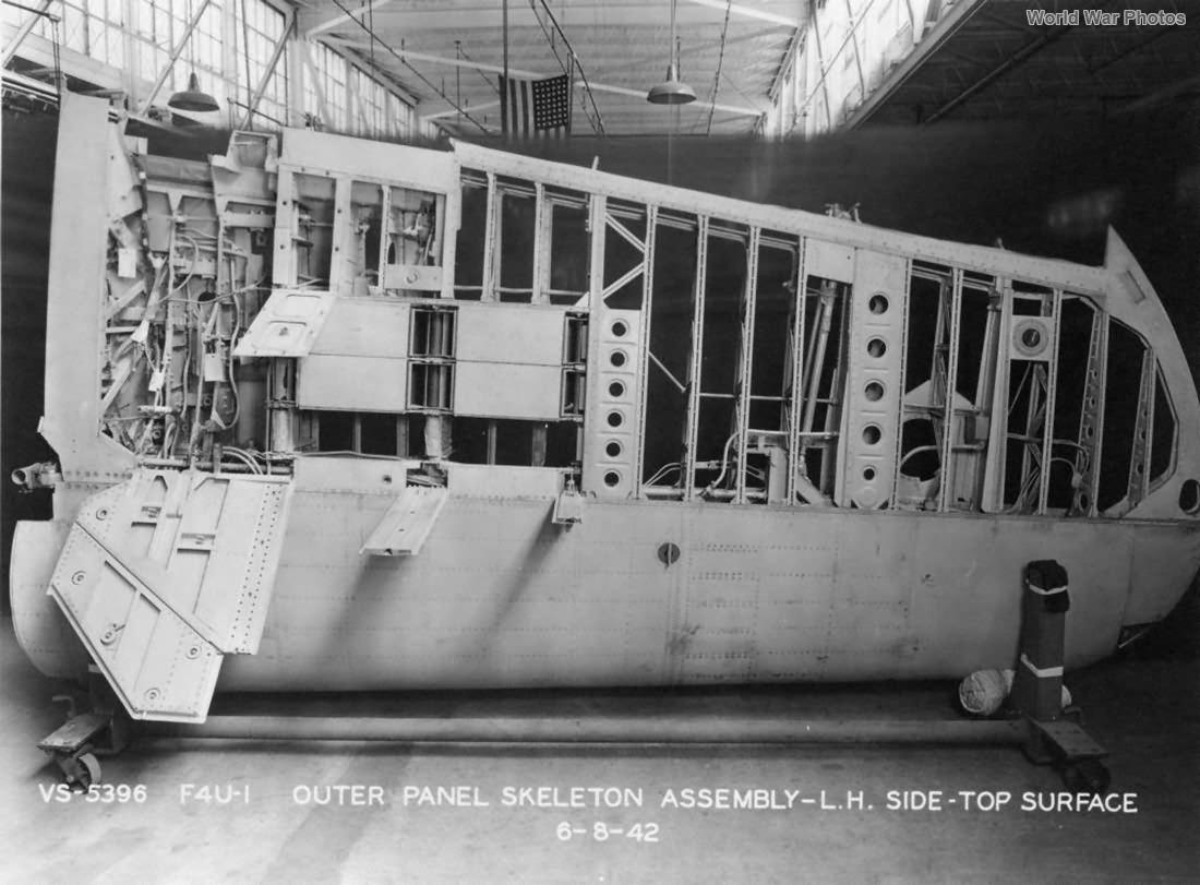 F4U-1 wing skeleton 1942