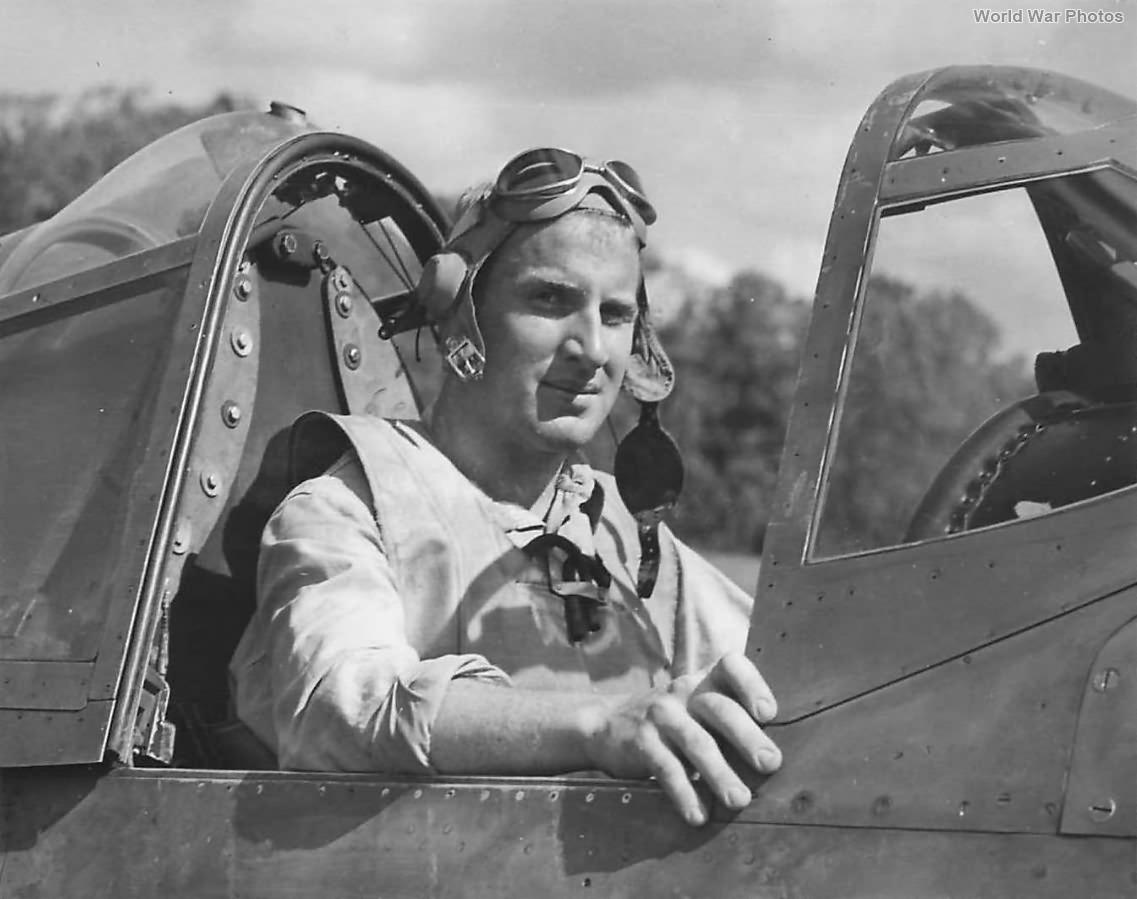 F4U Marine pilot 1st Lt Harry Atwater of VMF-122