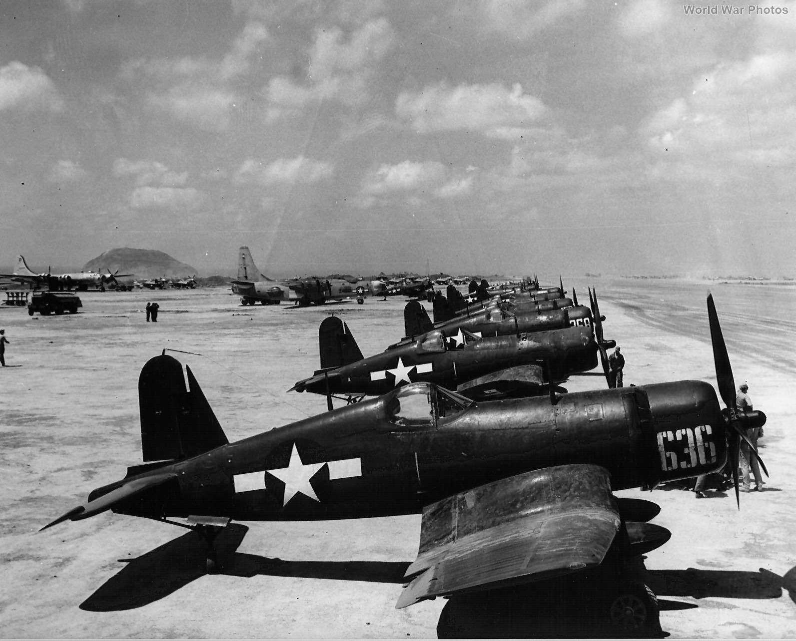 FG-1D of the MAW-4 at Iwo Jima 1945