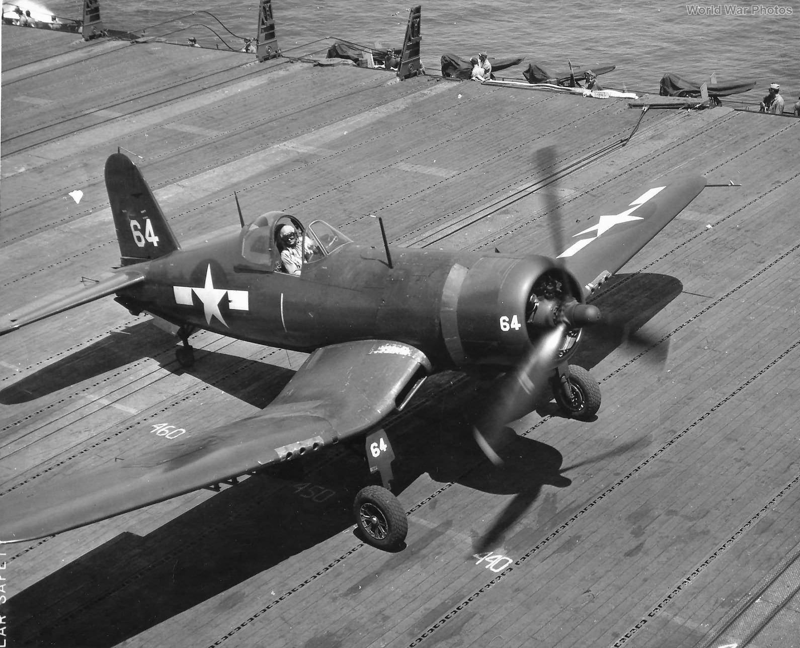 FG-1D #64 aboard USS Boxer 1945
