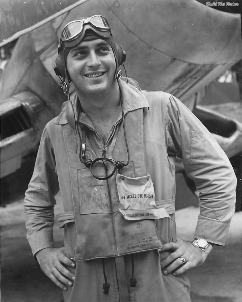 Marine Ace pilot Don Fisher of VMF-214 1943