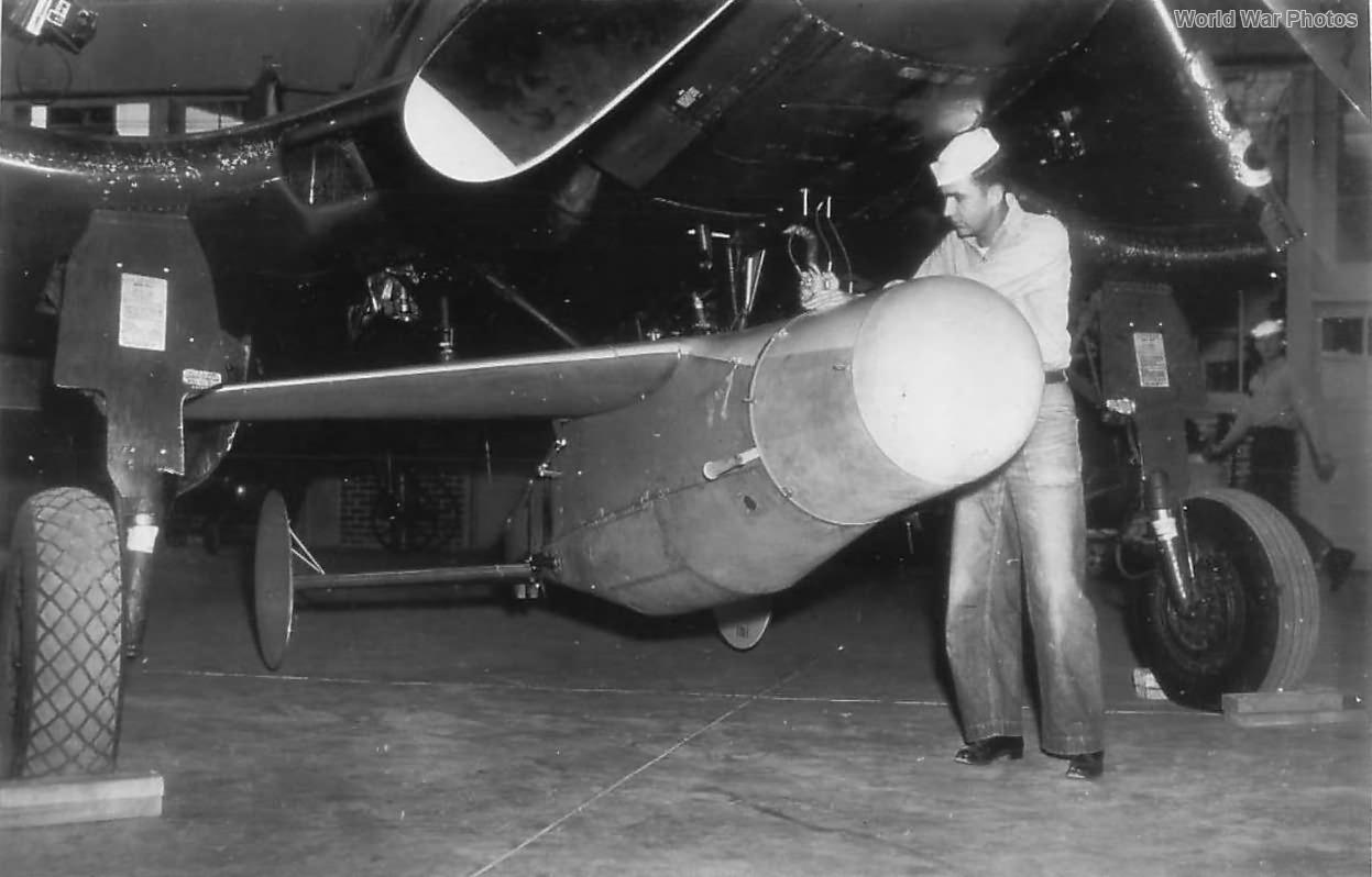 Technician Adjusting BAT radar-guided bomb 1946