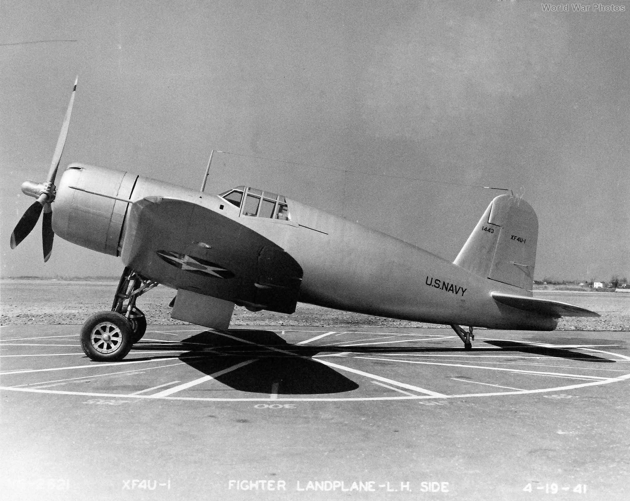 XF4U-1 19 April 1941