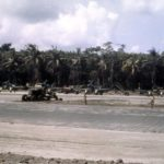 F4U Corsairs of VF-17 on Bougainville in color 1943