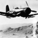 F4U loaded with rockets NOTS California June 5 1945