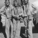 VMF-214 pilots March, Harper and Avey