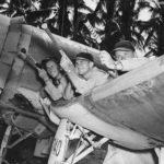 VMF-214 pilots McClurg Mullen Olander 44
