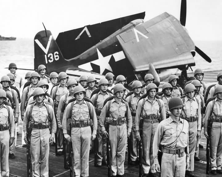 f6f hellcat  136 aircraft carrier uss ticonderoga cv