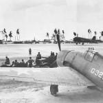 Admiral Nimitzs Plane Landing on Tarawa Airfield 1943. F6F-3 Hellcat G32