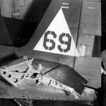 Damaged of an F6F-5 Hellcat 69 carrier USS Enterprise CV-6 October 19, 1944Damaged of an F6F-5 Hellcat #69 carrier USS Enterprise CV-6 October 19, 1944