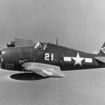 F6F-5N Hellcat #21 of VF(N)-90 Bats iin flight during World War II
