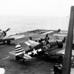 F6F-5 Hellcats white 32 and 74 of VF-12 onboard USS Randolph CV-15 1945