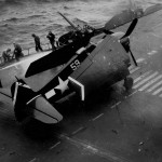 F6F-5 Hellcat #59 of VF-53 on the flight deck of the carrier USS Saratoga CV-3 Iwo Jima on February 21, 1945