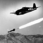 F6F-5 Hellcat firing a Tiny Tim rocket at NOTS China Lake November 6 1945