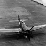 F6F-5 Hellcat on the flight deck