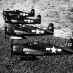F6F-5 Hellcats of VF-6 formation over Moanaloa Hawaii February 14 1945